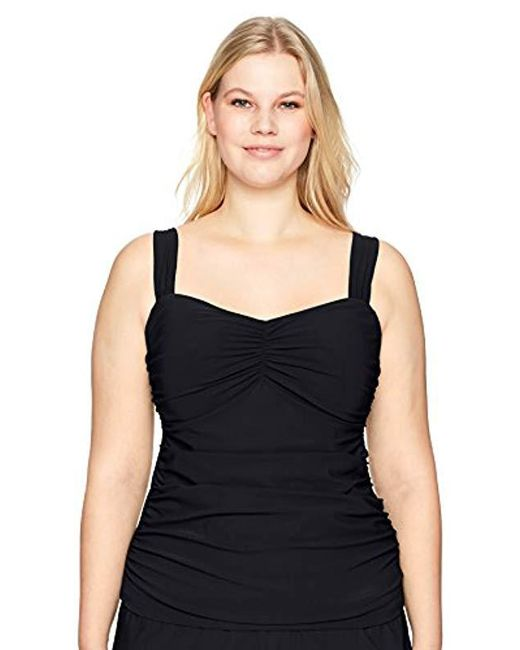 d64abb215ef Lyst - Gottex Plus-size Sweetheart Tankini Top Swimsuit in Black ...
