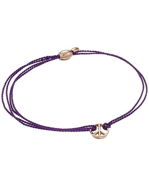 ALEX AND ANI - Purple Kindred Cord Peace Bracelet - Lyst