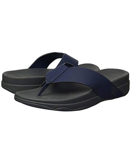 5d939489830 ... Fitflop - Blue Surfer Toe Post In Neoprene Flip-flop for Men - Lyst ...