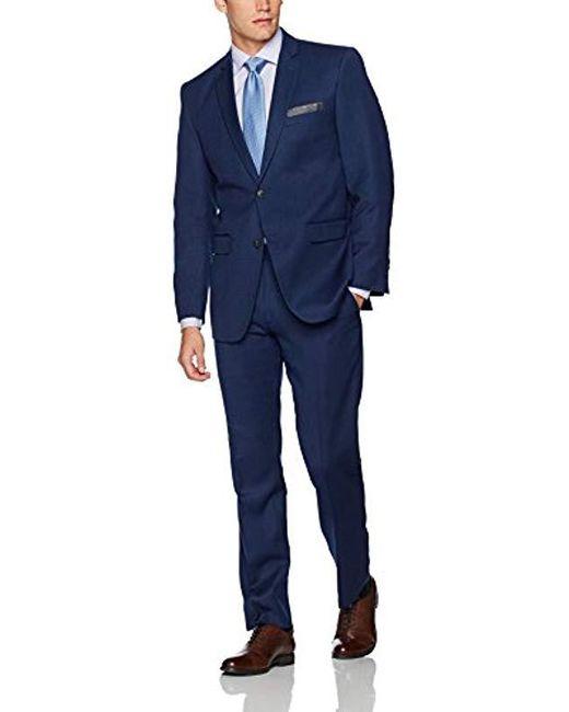 Perry Ellis Blue Two Button Slim Fit Suit for men