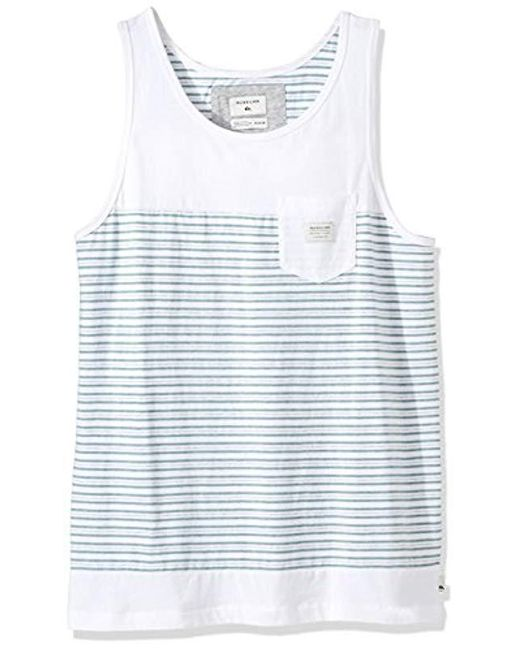 556458468930ce Lyst - Quiksilver Full Tide Tank in White for Men