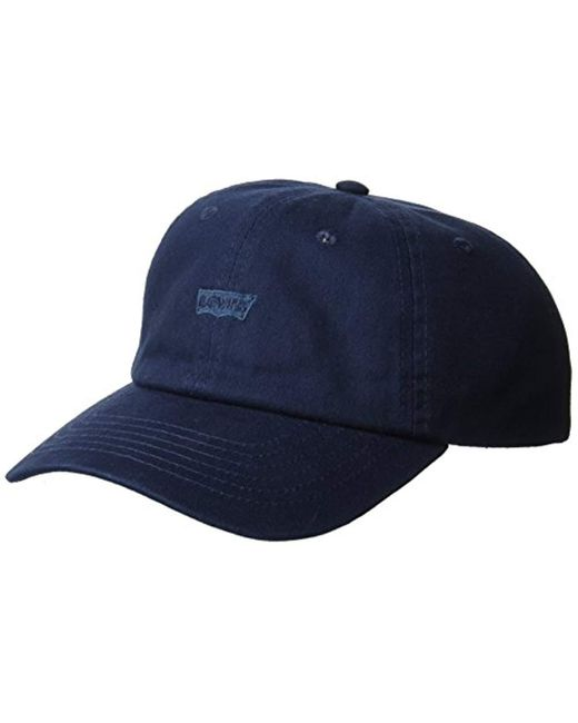 Levi's Blue Classic Baseball Hat With Logo for men