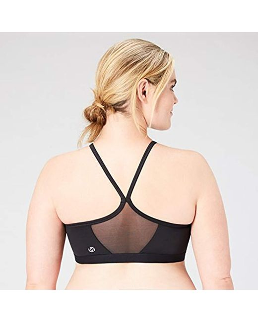 3c00041e80020 ... Core 10 - Black Light Support Simple Strappy Sports Bra A-h Cup - Lyst  ...