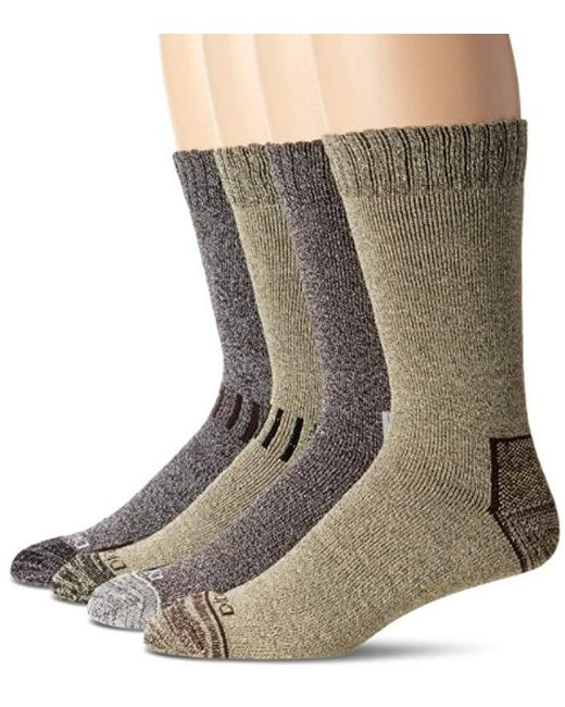 Dickies - Brown 4 Pack All Season Marled Moisture Control Crew Socks for Men - Lyst