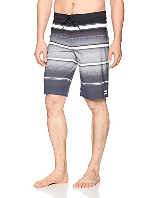Billabong - Gray All Day X Stripe Boardshort for Men - Lyst