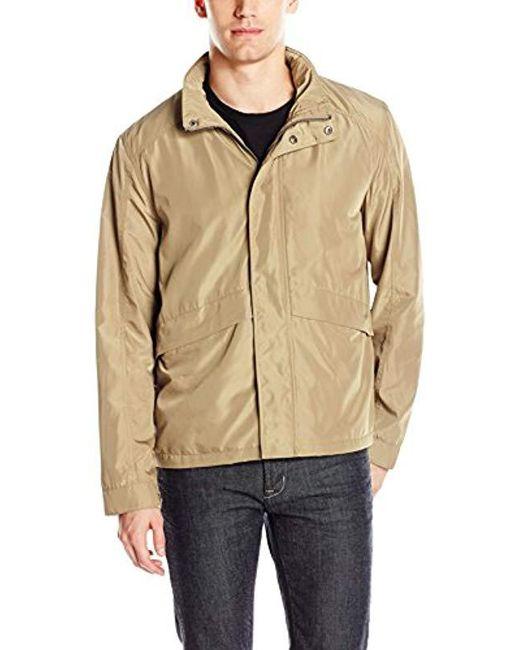 Cole Haan - Natural Open Bottom Trucker Packable Rain Jacket for Men - Lyst