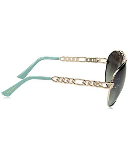 6a9df4753c9 ... Sam Edelman - Metallic Rocawear R566 Gldaq Aviator Sunglasses - Lyst ...