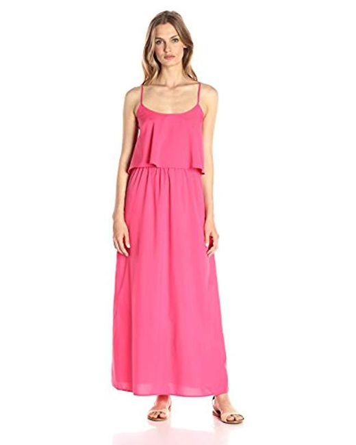b90023e526b Lyst - Lark   Ro Tiered Top Maxi Dress in Pink - Save 17%