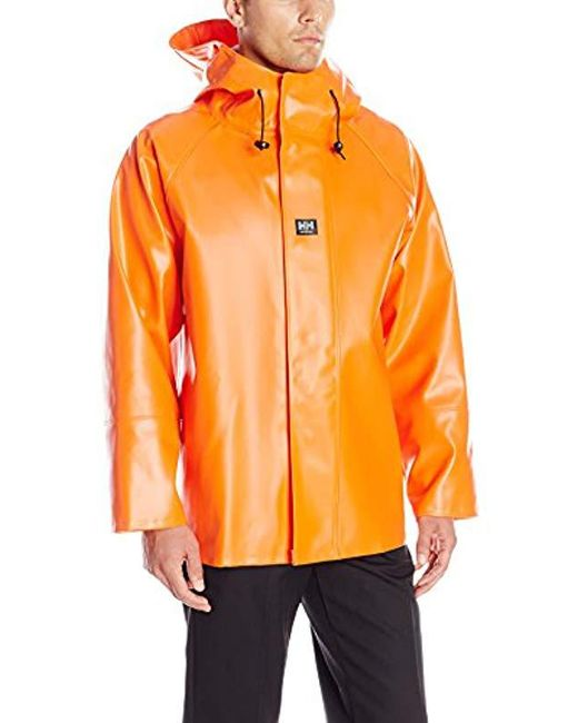 Helly Hansen - Orange Workwear Nusfjord Fishing Jacket With Cuff for Men - Lyst