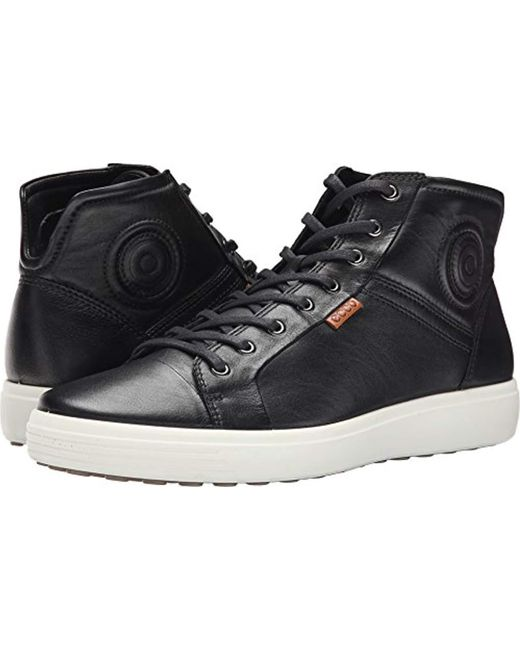 Ecco - Black Soft 7 High Top for Men - Lyst