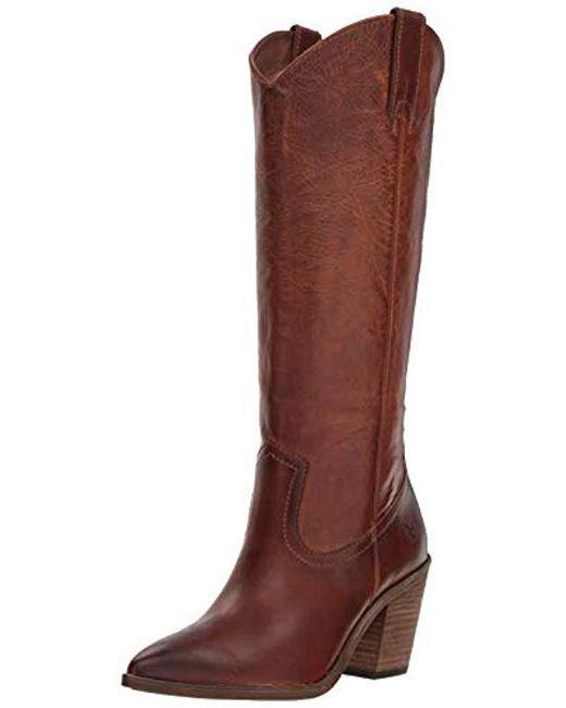Frye - Brown Faye Pull On Western Boot - Lyst