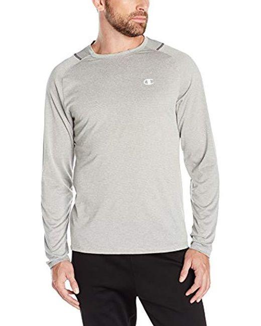Champion - Gray Double Dry Run Long-sleeve T-shirt for Men - Lyst