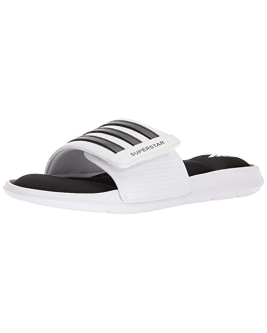 612a24dcc128e Lyst - adidas Superstar 5g Slide Sandal in White for Men - Save 29%