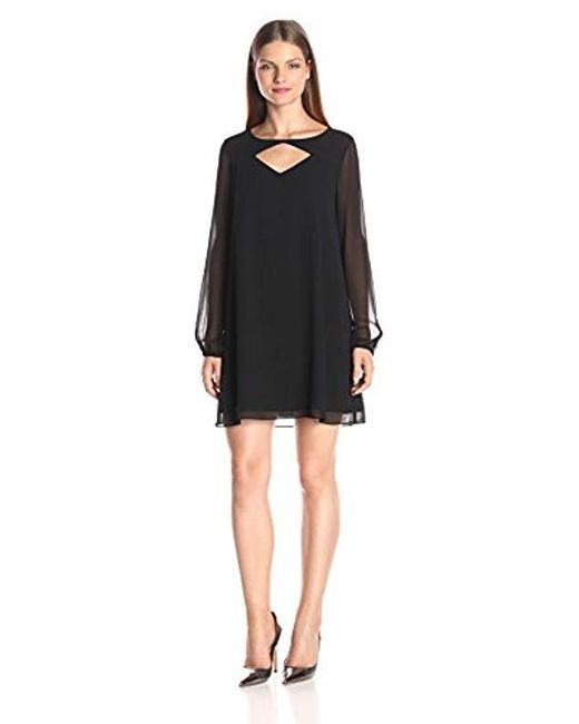 BCBGeneration - Black Shift Dress With Cut Outs - Lyst