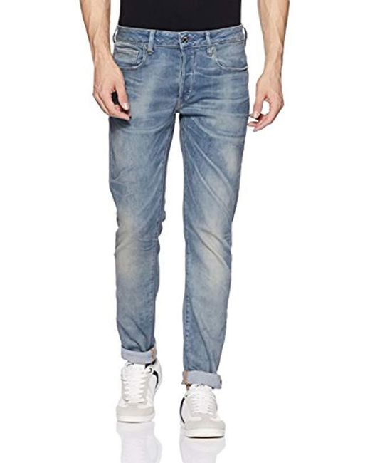 a247ff0eb9164 G-Star RAW - Blue 3301 Slim Vekos Stretch Denim for Men - Lyst ...