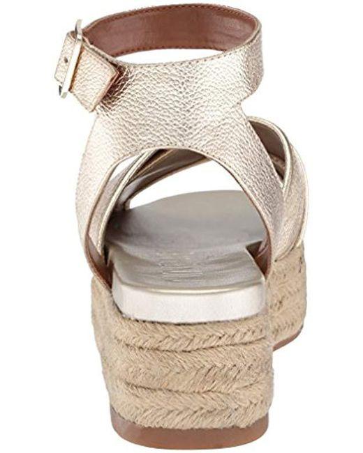 d0c2109ded36 Lyst - Nine West Showrunner Metallic Sandal in Metallic