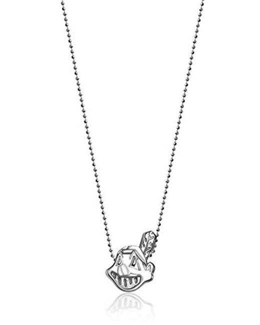 "Alex Woo - Metallic Little Mlb Sterling Silver Cleveland Indians Pendant Necklace, 16"" - Lyst"