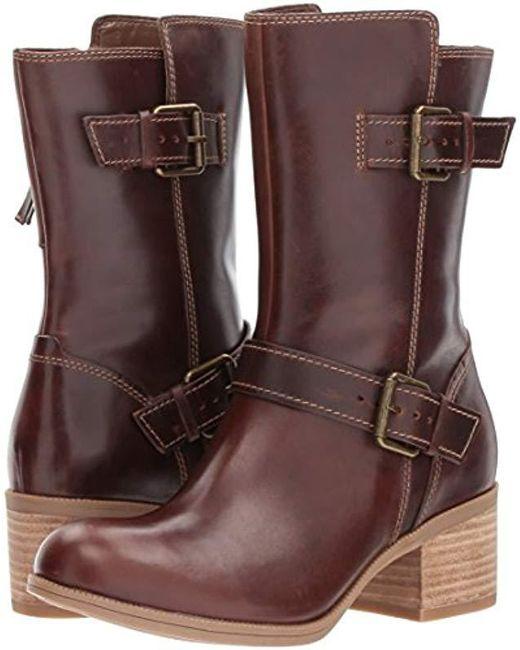 ca4317659c45 Clarks Maypearl Oasis Engineer Boot in Brown - Save 37% - Lyst