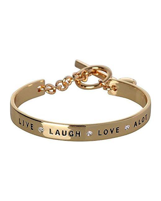 BCBGeneration - Metallic Bcbg Generation Live Laugh Love Cuff Bracelet - Lyst