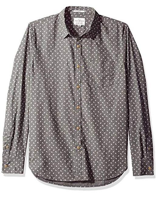 Lucky Brand - Gray Ballona Shirt In Light Grey for Men - Lyst