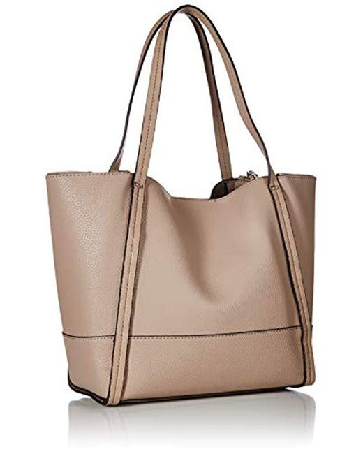 8e923c06e0 ... Guess - Brown Heidi Small Tote Set - Lyst ...