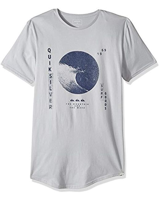 Quiksilver - Gray Short Sleeve Scallop East Wavy Dots Tee for Men - Lyst