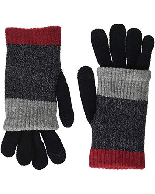Steve Madden - Red Multi Stripe Purl Knit Itouch Glove - Lyst