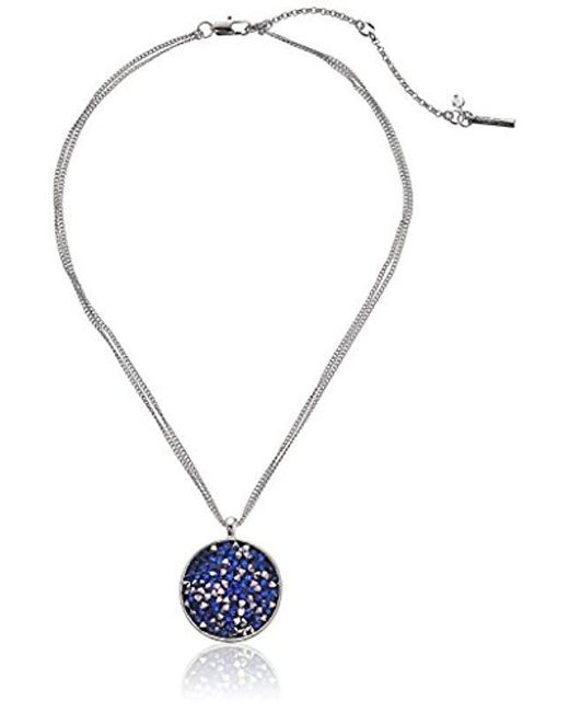 """Kenneth Cole - Multicolor Faceted Bead Round Pendant Necklace, 18"""" + 2"""" Extender - Lyst"""