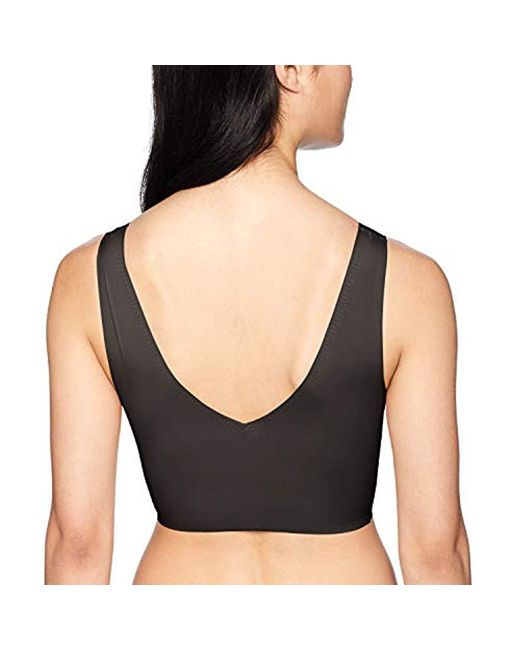 29510a83d4 ... Calvin Klein - Black Invisibles Lightly Lined V Neck Bralette - Lyst