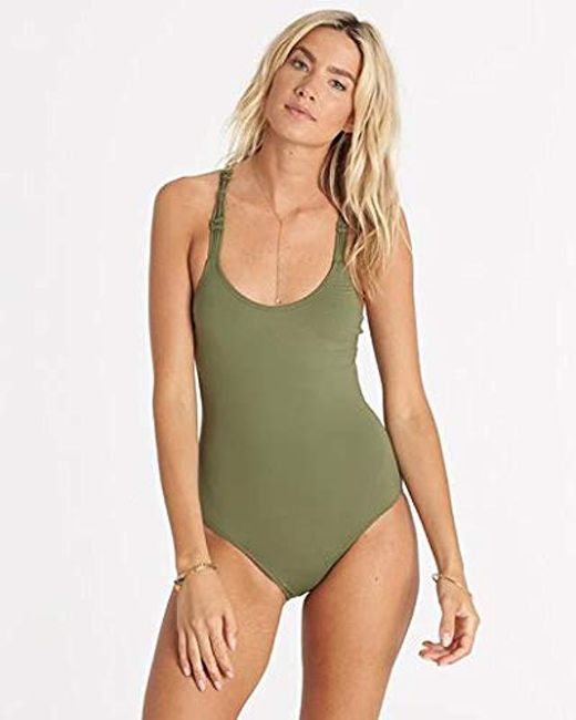 Billabong - Green It's All About The One Piece Swimsuit - Lyst