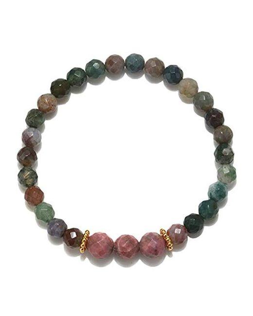 Satya Jewelry - Pink Amethyst And Sodalite Gold Stretch Bracelet - Lyst