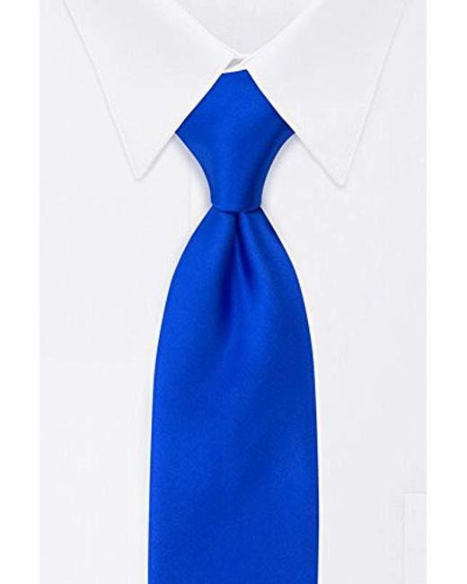 Geoffrey Beene - Blue Satin Solid Tie for Men - Lyst