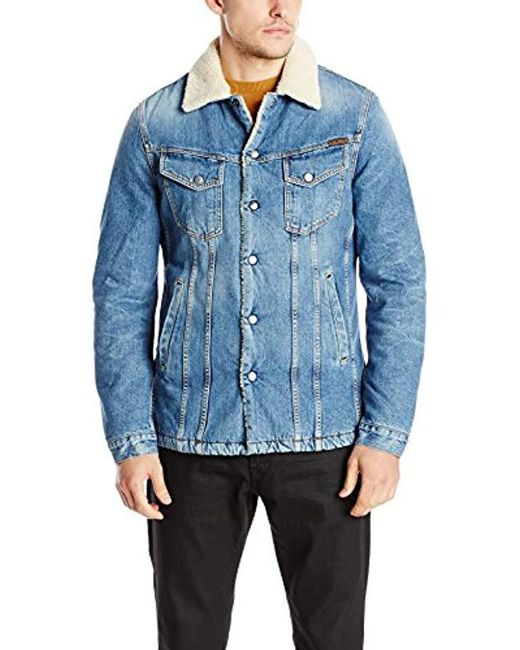 Nudie Jeans - Lenny Jacket In Tangerine Blue for Men - Lyst