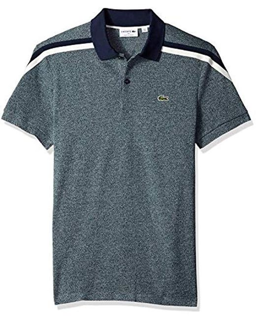 66fdead48 Lacoste - Blue Short Sleeve Slim Fit Made In France Pique Polo for Men -  Lyst ...