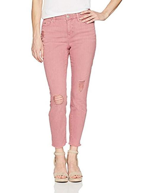 Nine West Pink Gramercy Skinny Crop