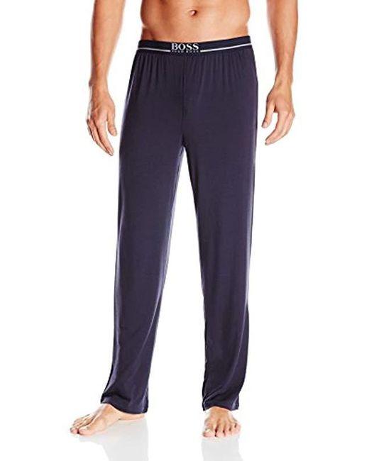 BOSS - Blue Modal Lounge Pant for Men - Lyst