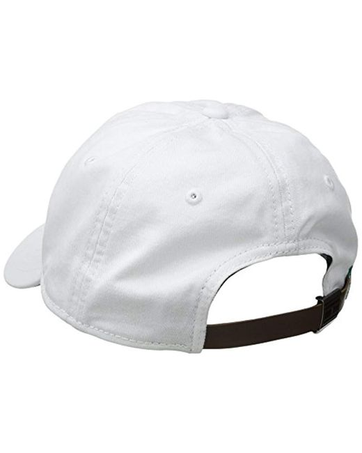 133ad83a ... Tommy Hilfiger - White Logo Dad Baseball Cap for Men - Lyst ...