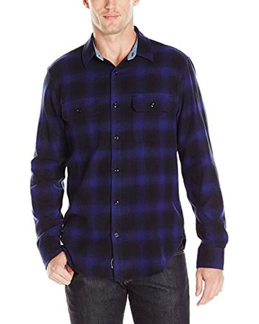 Lucky Brand - Miter Two Pocket Shirt In Purple Ombre, for Men - Lyst
