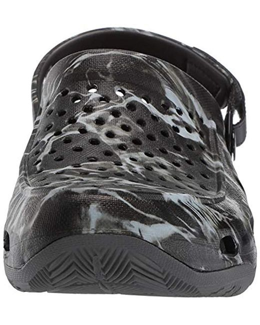 4310a7184ce2 ... Crocs™ - Black Swiftwater Mossy Oak Elements Deck Clog for Men - Lyst  ...
