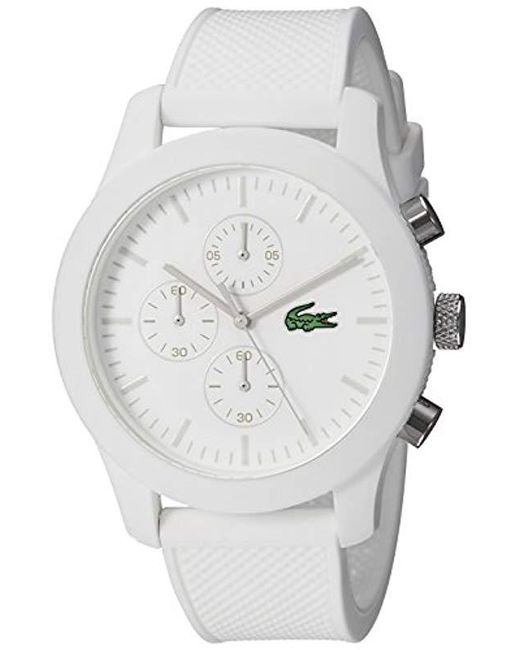 02b4d519b Lacoste - 2010823 12.12 Analog Display Quartz White Watch for Men - Lyst ...
