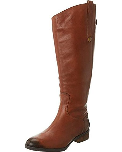 765971a215b99 Sam Edelman - Brown Penny 2 Wide-shaft Riding Boot - Lyst ...