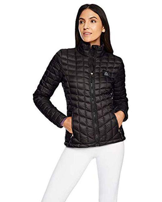 Reebok - Black Glacier Shield Jacket, - Lyst