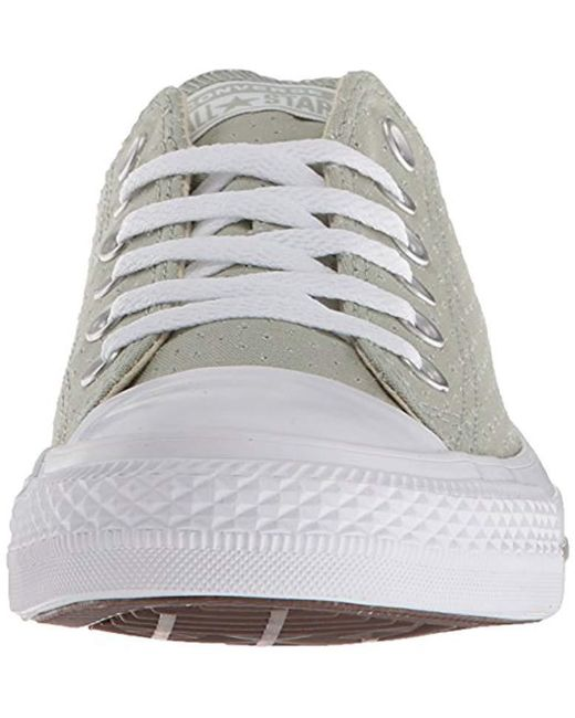 339ca66041cd ... Converse - White Chuck Taylor All Star Perforated Canvas Low Top Sneaker  - Lyst ...