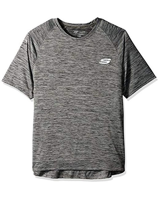 c026ced7f26e Lyst - Skechers Space Dye Tee in Black for Men - Save 14%