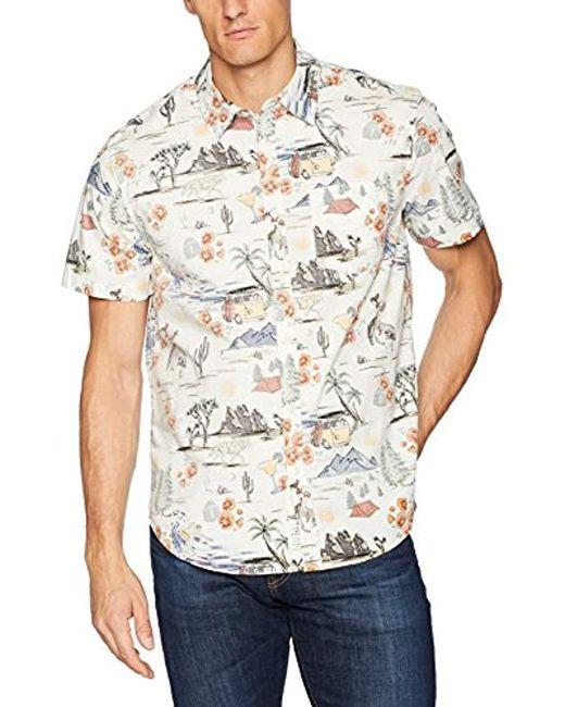 Lucky Brand - White Casual Short Sleeve Hawaiian Button Down Shirt for Men - Lyst