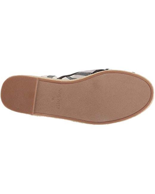 d48b0a2e0618 Lyst - Nine West Showrunner Fabric Sandal in Black - Save 13%