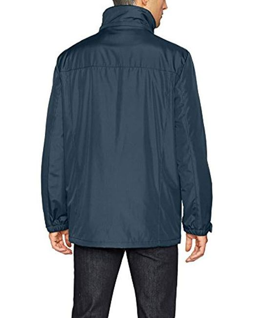 14797ffd4bf ... Kenneth Cole Reaction - Blue Bonded Midweight Jacket With Fleece Zip Bib  for Men - Lyst