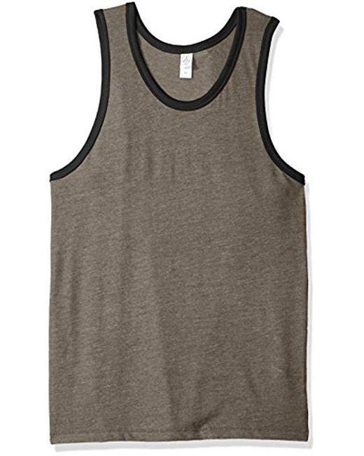 Alternative Apparel - Black Keeper Vintage Jersey Ringer Tank Top for Men - Lyst