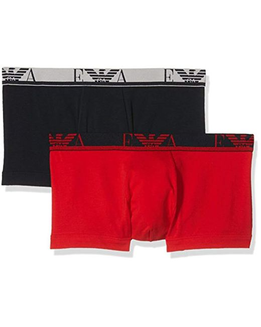 Emporio Armani - Red Monogram 2-pack Trunk for Men - Lyst