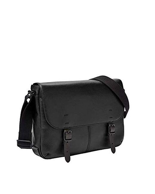 Fossil - Buckner Small Commuter Black Cross Body Bag, One Size for Men - Lyst